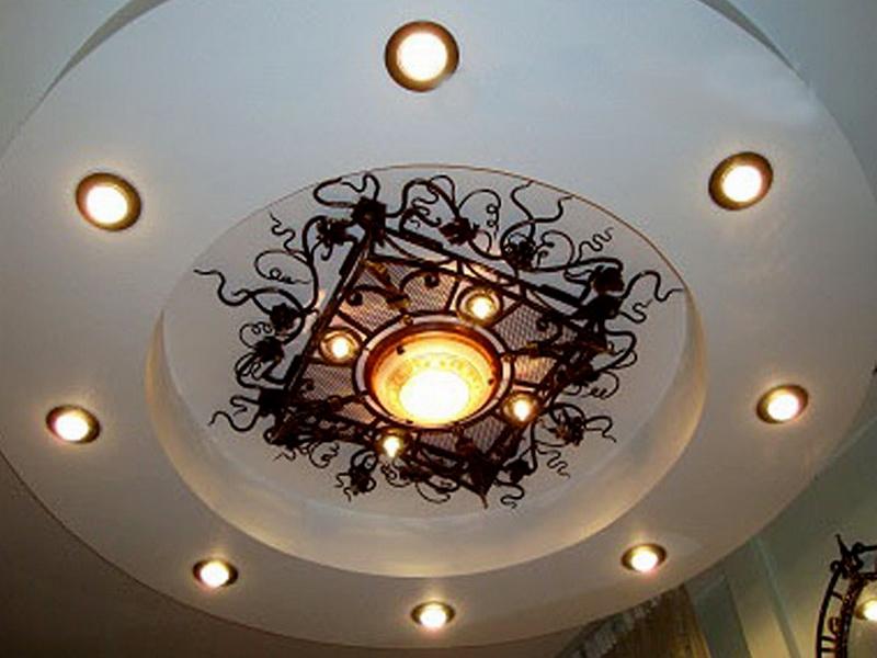 Кованая люстра, светильник N 10114