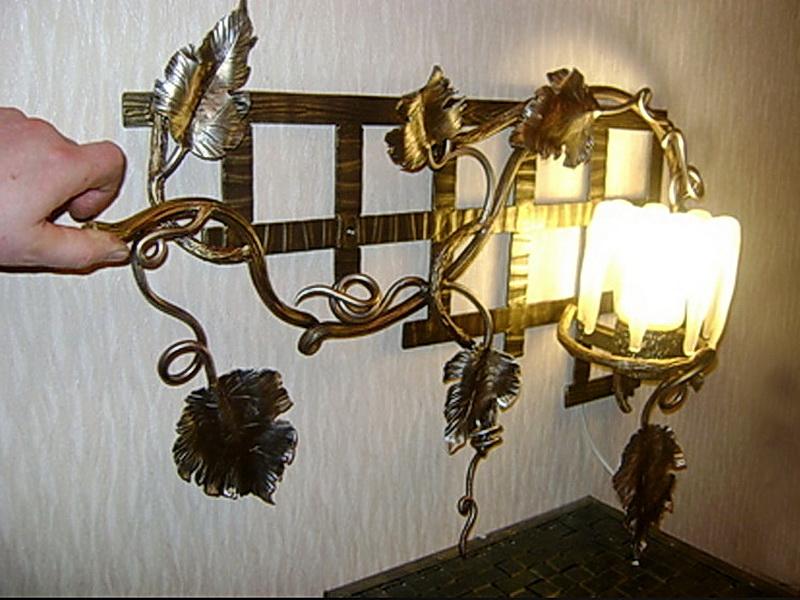 Кованая люстра, светильник N 10118