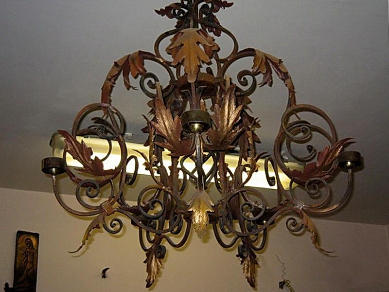 Кованая люстра, светильник N 10119