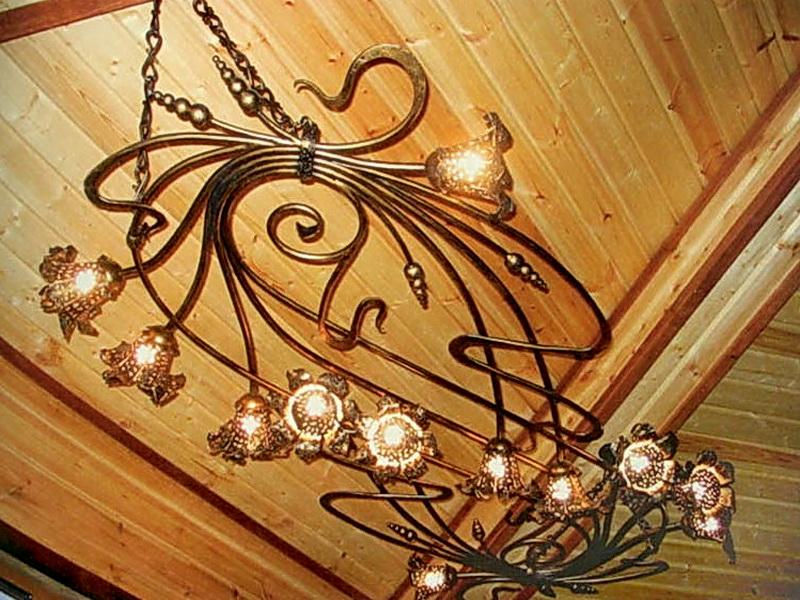 Кованая люстра, светильник N 10131