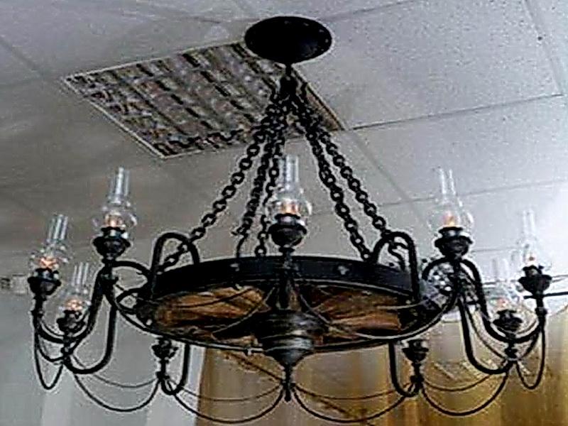 Кованая люстра, светильник N 10133
