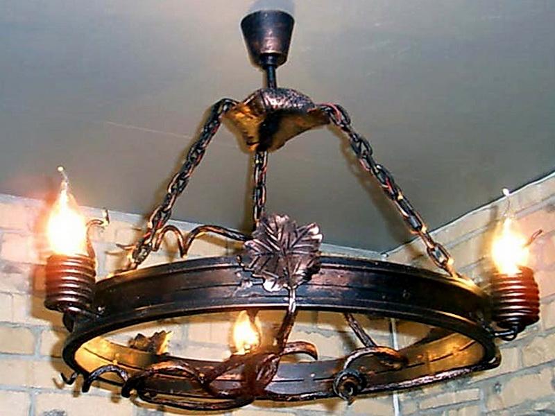 Кованая люстра, светильник N 10134