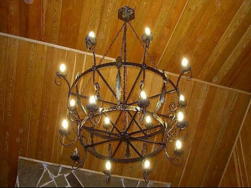 Кованая люстра, светильник N 10138