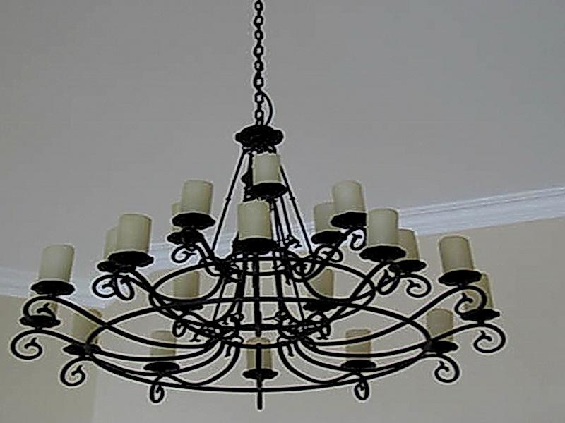 Кованая люстра, светильник N 10139