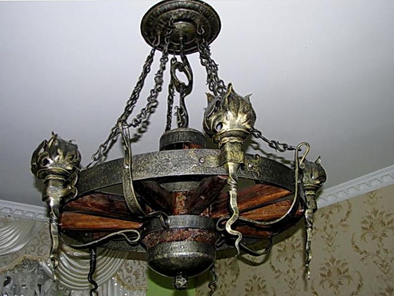 Кованая люстра, светильник N 10140