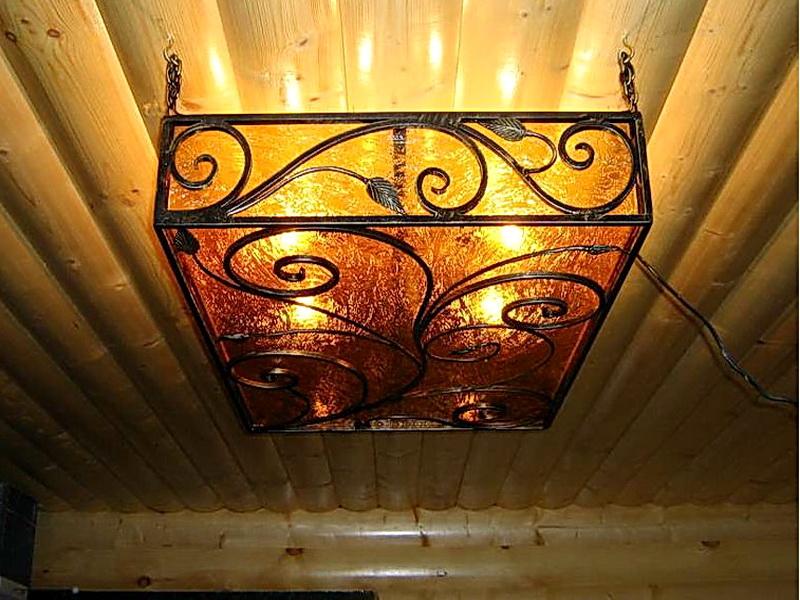 Кованая люстра, светильник N 10143
