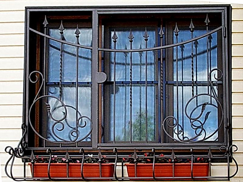 Кованые оконные решетки N 7012