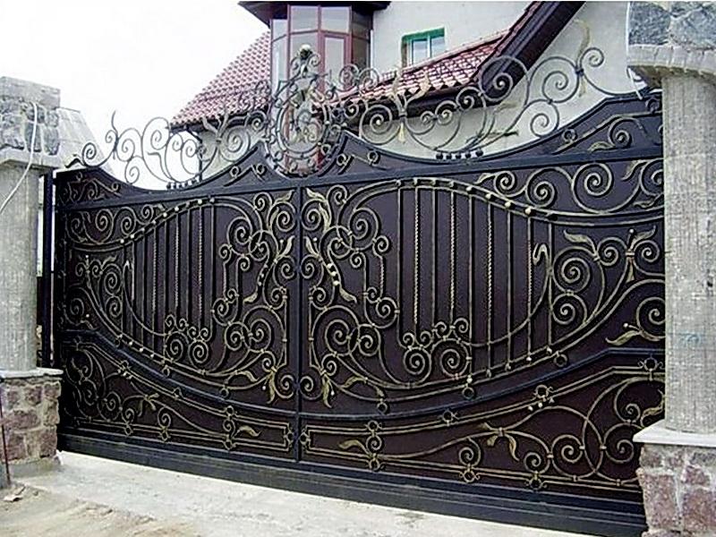 Кованые откатные ворота N 1-1001