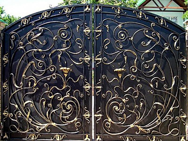 Кованые откатные ворота N 1-1002