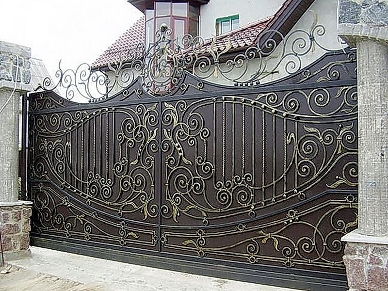 Кованые откатные ворота N 1-1005