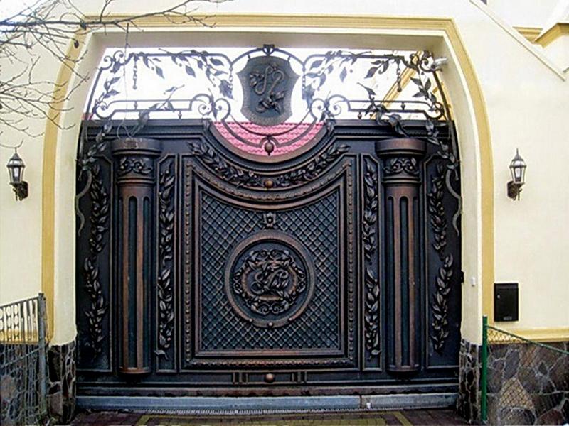 Кованые откатные ворота N 1-1006