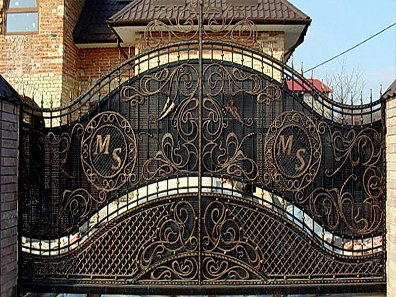 Кованые откатные ворота N 1-1007