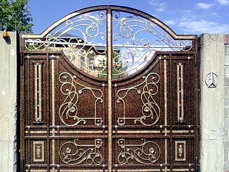 Кованые откатные ворота N 1-1018