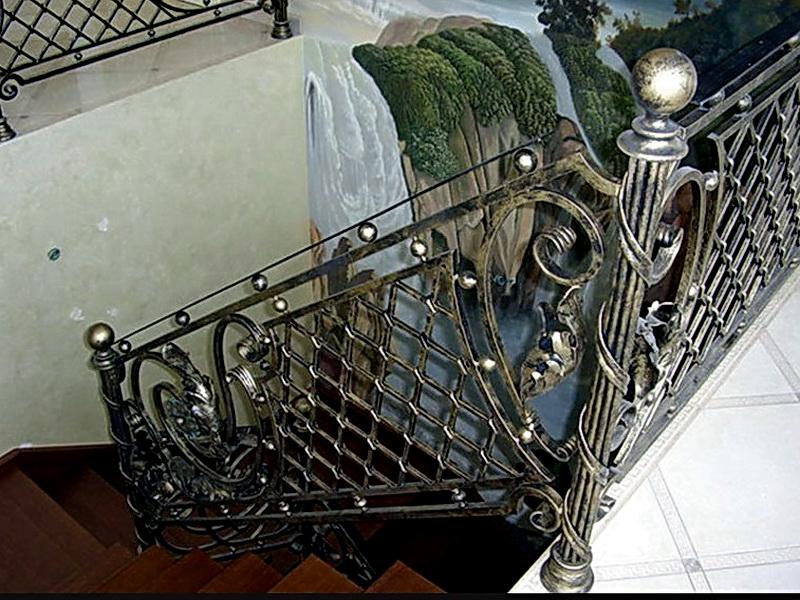Кованые перила N 3037