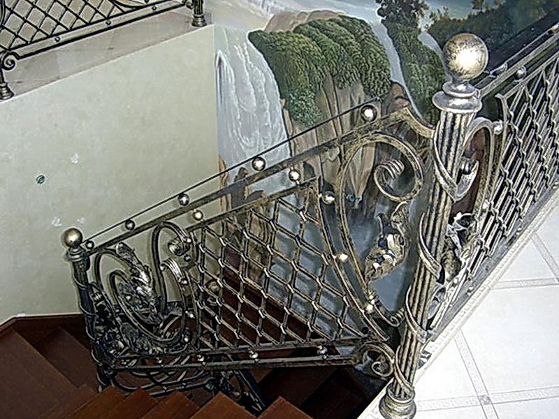 Кованые перила N 3137