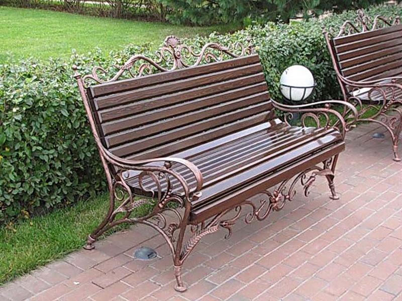 Кованая скамейка N 10902