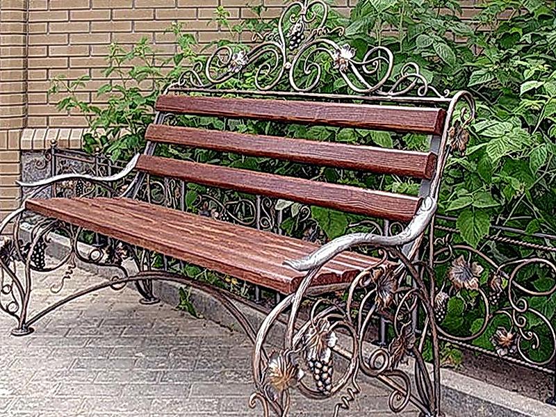 Кованая скамейка N 10905