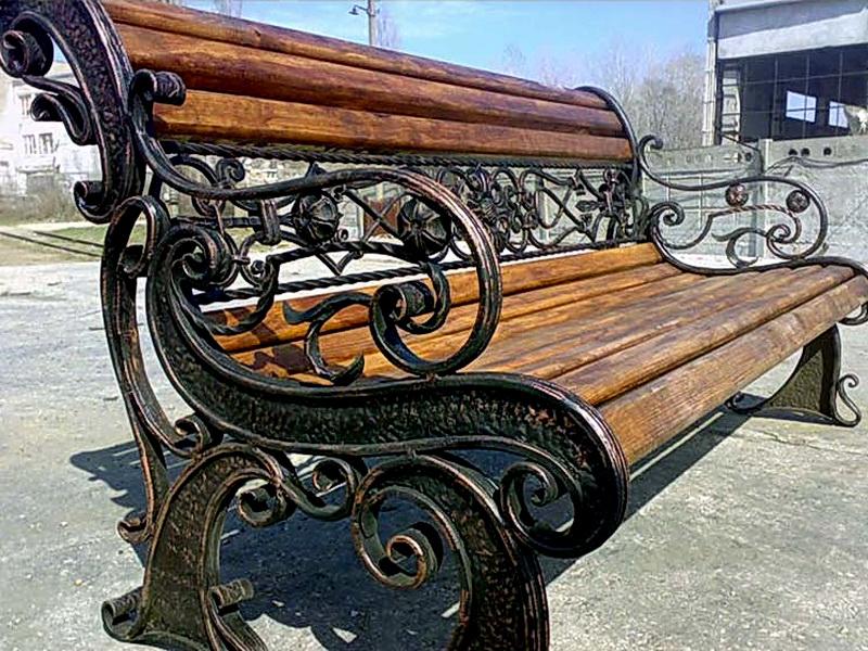 Кованая скамейка N 10906