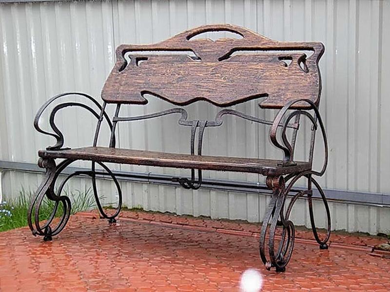 Кованая скамейка N 10907