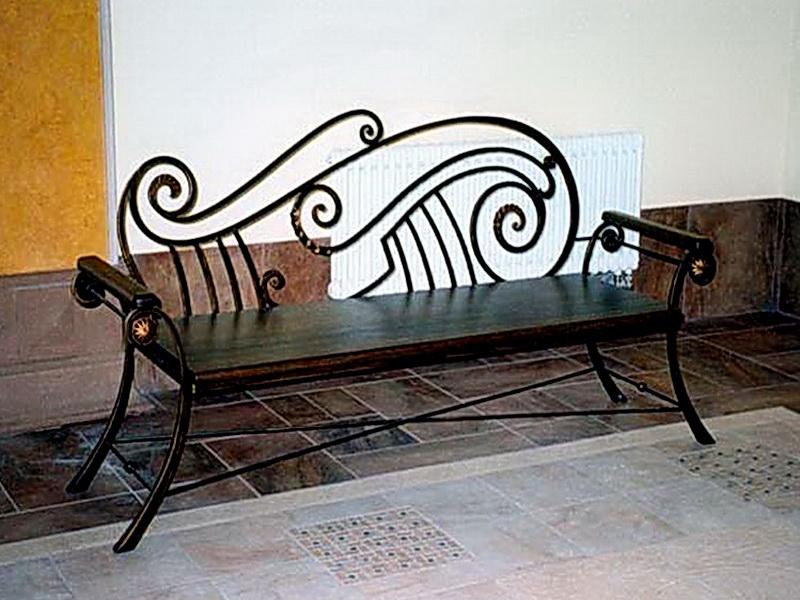 Кованая скамейка N 10909