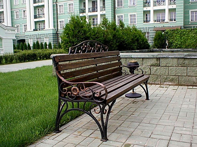 Кованая скамейка N 10912
