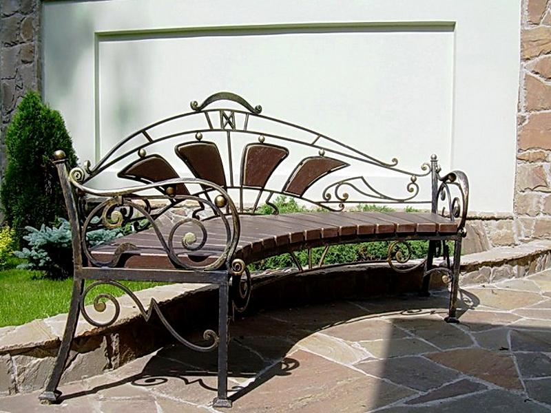 Кованая скамейка N 10913