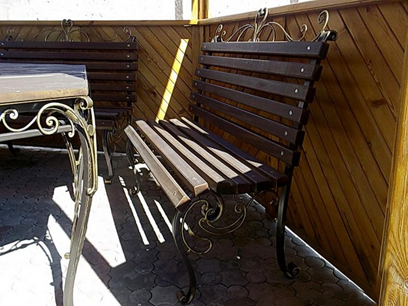 Кованая скамейка N 10914