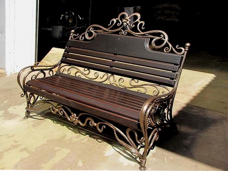 Кованая скамейка N 10915