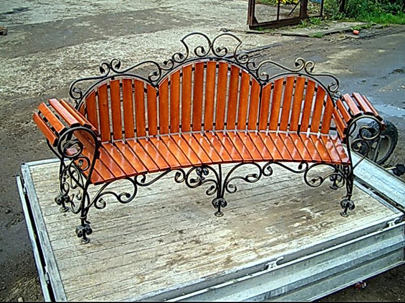 Кованая скамейка N 10916