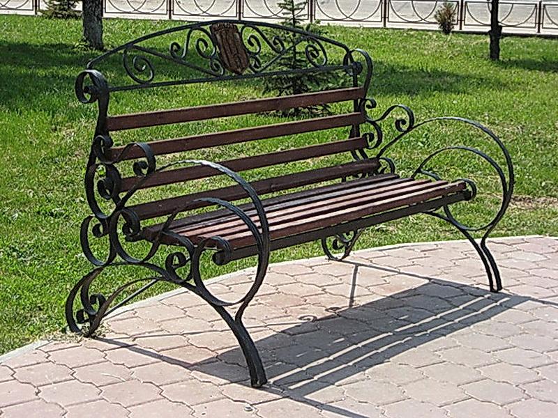 Кованая скамейка N 10917