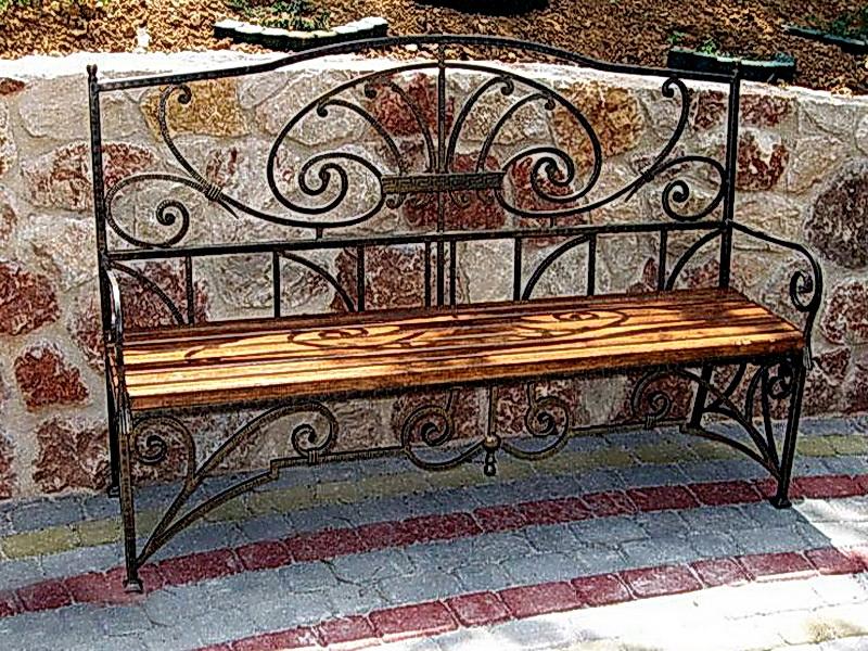 Кованая скамейка N 10918