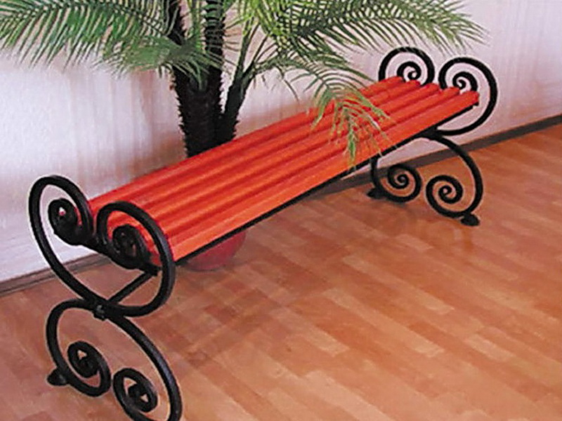 Кованая скамейка N 10920