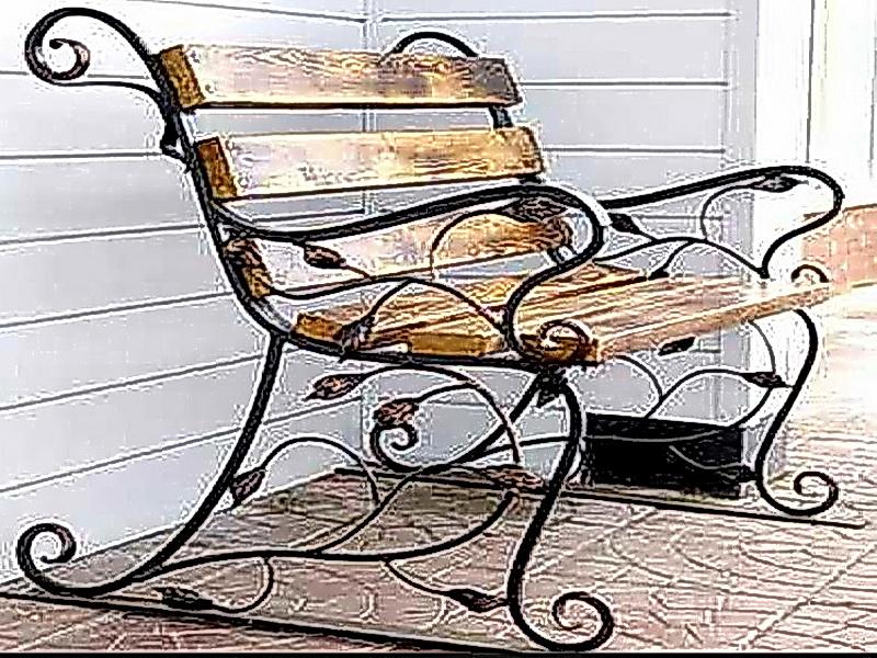 Кованая скамейка N 10921