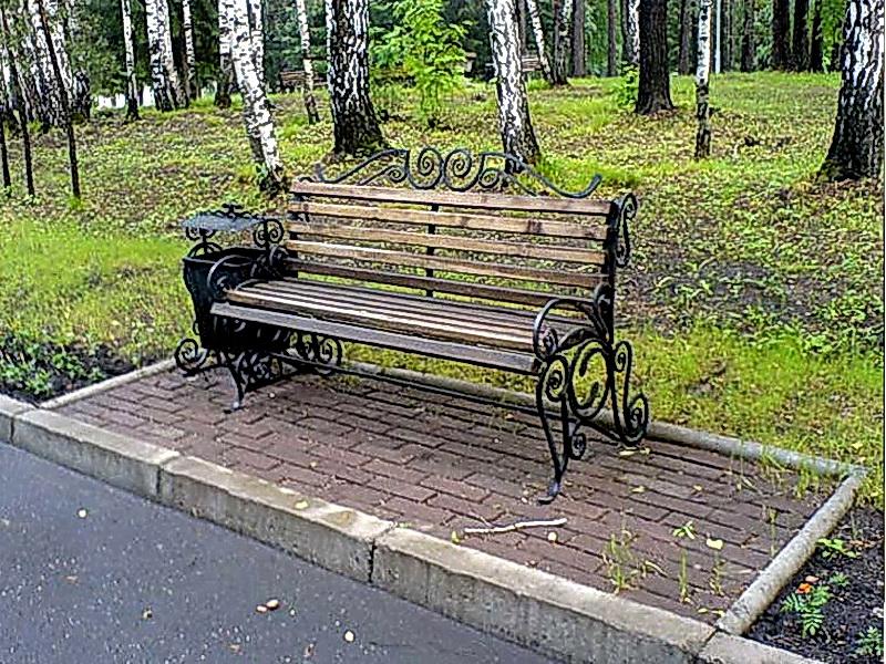 Кованая скамейка N 10923