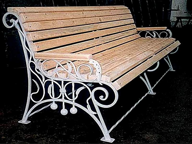 Кованая скамейка N 10924