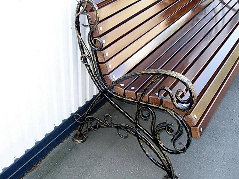 Кованая скамейка N 10925
