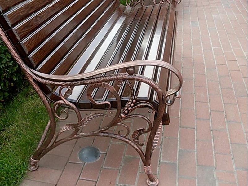 Кованая скамейка N 10927