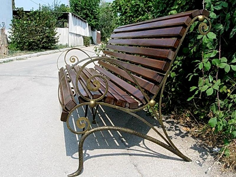 Кованая скамейка N 10929