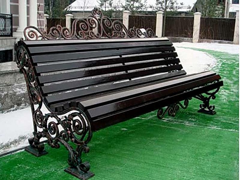 Кованая скамейка N 10930