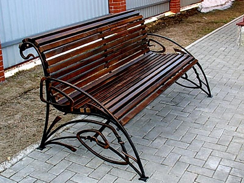Кованая скамейка N 10931