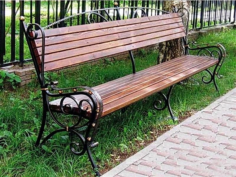 Кованая скамейка N 10932