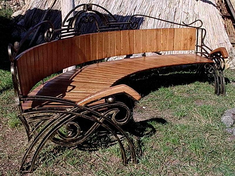 Кованая скамейка N 10934