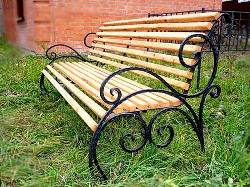 Кованая скамейка N 10936