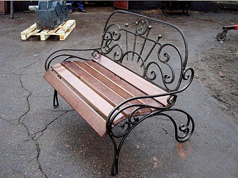 Кованая скамейка N 10939