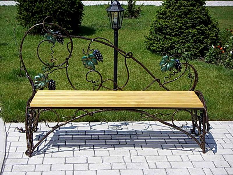 Кованая скамейка N 10940
