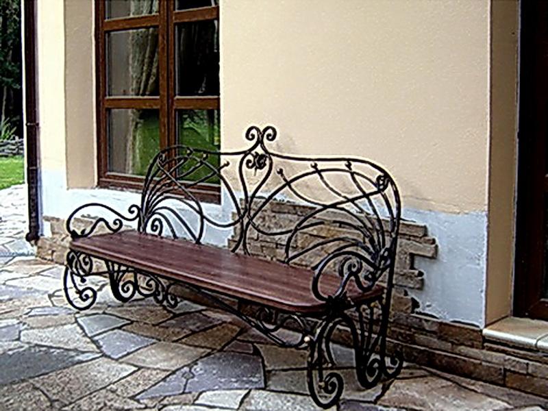 Кованая скамейка N 10944
