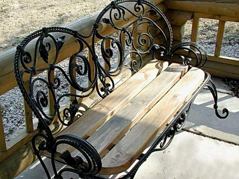Кованая скамейка N 10945