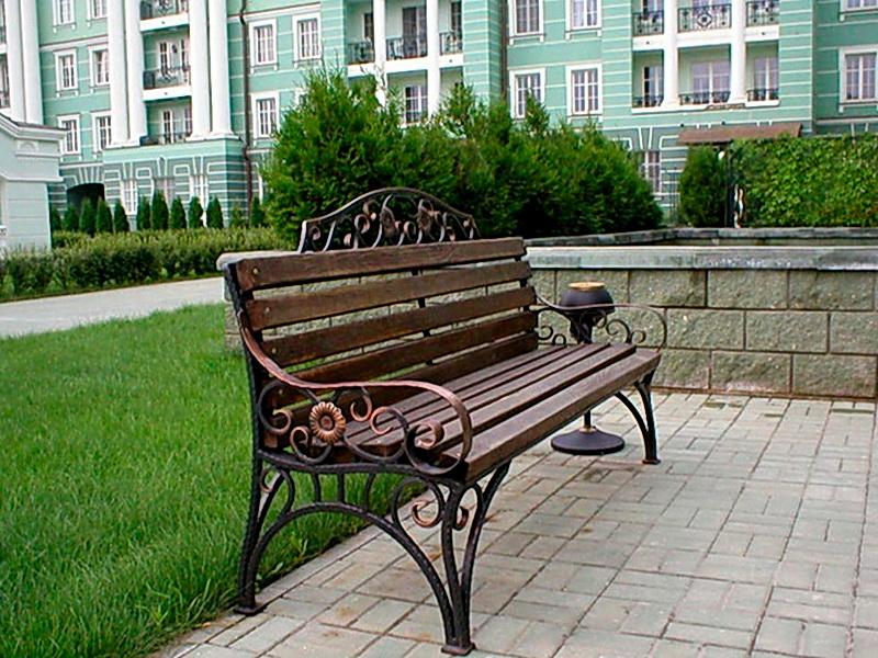 Кованая скамейка N 10947