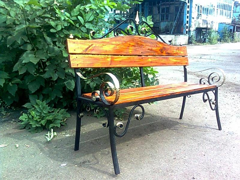 Кованая скамейка N 10948