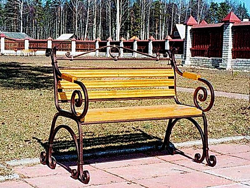 Кованая скамейка N 10949